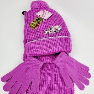 SWAK girls Hat, scarf & gloves